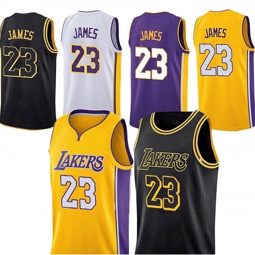 New Los Angeles Lakers Lebron James Jersey  23 Basketball Jersey Embroidery  2018 711b350e7ca9