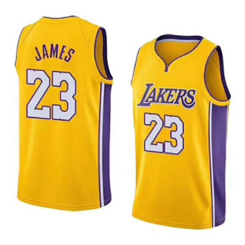 new styles 4ebd5 1237b New Los Angeles Lakers Lebron James Jersey #23 Basketball Jersey Embroidery  2018