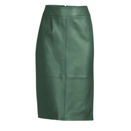 Meghan Markle Green Leather Pencil Skirt Replica