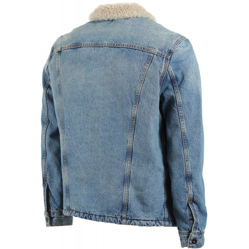 Levi's baggy denim sherpa trucker jacket